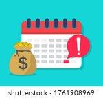 calendar payment. money with... | Shutterstock .eps vector #1761908969