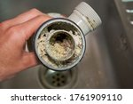 Clogged Sink Pipe In The Hands...