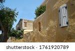 Symi  Greece. Wall Of A...