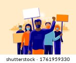 group of people protesters... | Shutterstock .eps vector #1761959330