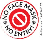 warning sign without a face... | Shutterstock .eps vector #1761967169