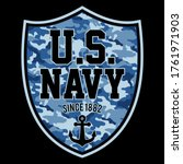 illustration us navy  with a... | Shutterstock .eps vector #1761971903