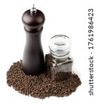 Black Pepper  Mill And Jar On...