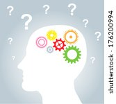 vector illustration of head... | Shutterstock .eps vector #176200994