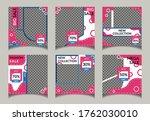 editable social media  template ... | Shutterstock .eps vector #1762030010