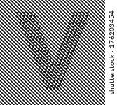 letter v   optical  illusion... | Shutterstock .eps vector #176203454