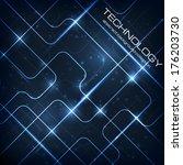 abstract technology dark... | Shutterstock .eps vector #176203730