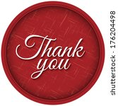 thank you lettering on textured ... | Shutterstock .eps vector #176204498