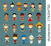 happy world kids set with... | Shutterstock .eps vector #176204720