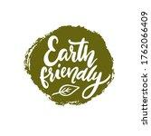 earth friendly badge  white... | Shutterstock .eps vector #1762066409