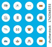 decor icons colored line set...   Shutterstock .eps vector #1762068353