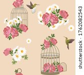 Seamless Pattern With Peonies ...