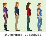 waiting in line   Shutterstock .eps vector #176208383