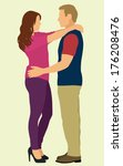 couple holding each other | Shutterstock .eps vector #176208476
