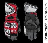 vector racing gloves  vector... | Shutterstock .eps vector #1762084976