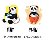 fat and thin opposite... | Shutterstock .eps vector #1762093016