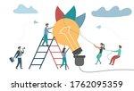 vector sector. teamwork for...   Shutterstock .eps vector #1762095359