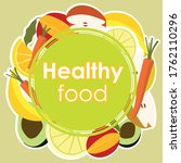 vector illustration of healthy... | Shutterstock .eps vector #1762110296