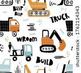 vector hand drawn seamless... | Shutterstock .eps vector #1762114343
