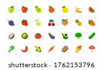 all fruits vector icons set.... | Shutterstock .eps vector #1762153796