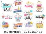 happy birthday logo badge.... | Shutterstock .eps vector #1762161473