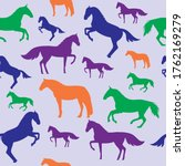 Horse Seamless Repeat Pattern....