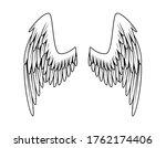 vintage heraldic wings....   Shutterstock . vector #1762174406