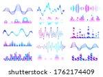 music sound waves set. audio...   Shutterstock . vector #1762174409