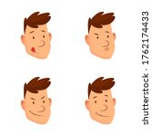man face expressions. set of... | Shutterstock . vector #1762174433