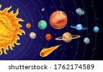 cartoon solar system planets....   Shutterstock . vector #1762174589