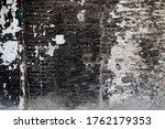 Old Brick Wall With Black And...