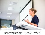 pretty  young business woman...   Shutterstock . vector #176222924