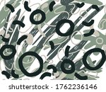 geometric vector pattern with...   Shutterstock .eps vector #1762236146