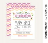 bridal shower card | Shutterstock .eps vector #176225048
