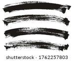 flat paint brush thin long...   Shutterstock .eps vector #1762257803