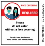 wear face mask sign and symbol...   Shutterstock .eps vector #1762262210