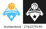 basketball logo  badge or label ... | Shutterstock .eps vector #1762279190