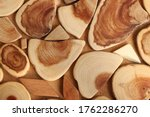 Background Of Wood Pieces....