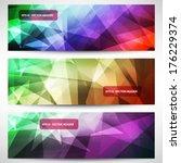 vector headers set | Shutterstock .eps vector #176229374