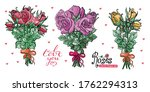 colection of beautiful bouquet. ... | Shutterstock .eps vector #1762294313