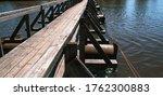 Wooden Foot Bridge Over A...
