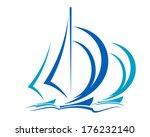 Dynamic Sailboats Logo Racing...
