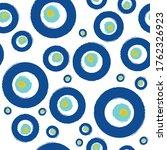 blue turkish evil eye seamless...   Shutterstock .eps vector #1762326923