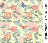 seamless watercolor background...   Shutterstock . vector #1762338686