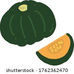 Pumpkin Flat Vector Icon...
