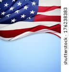 closeup of american flag on... | Shutterstock . vector #176238383