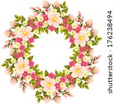 abstract flower background with ... | Shutterstock . vector #176238494