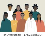 black community  african people ... | Shutterstock .eps vector #1762385630