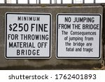 """""""minimum  250 Fine For Throwing ..."""