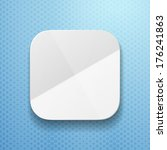 blank app icon template with...